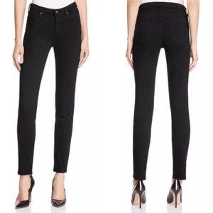 Ag | the prima mid-rise cigarette jeans black 0745